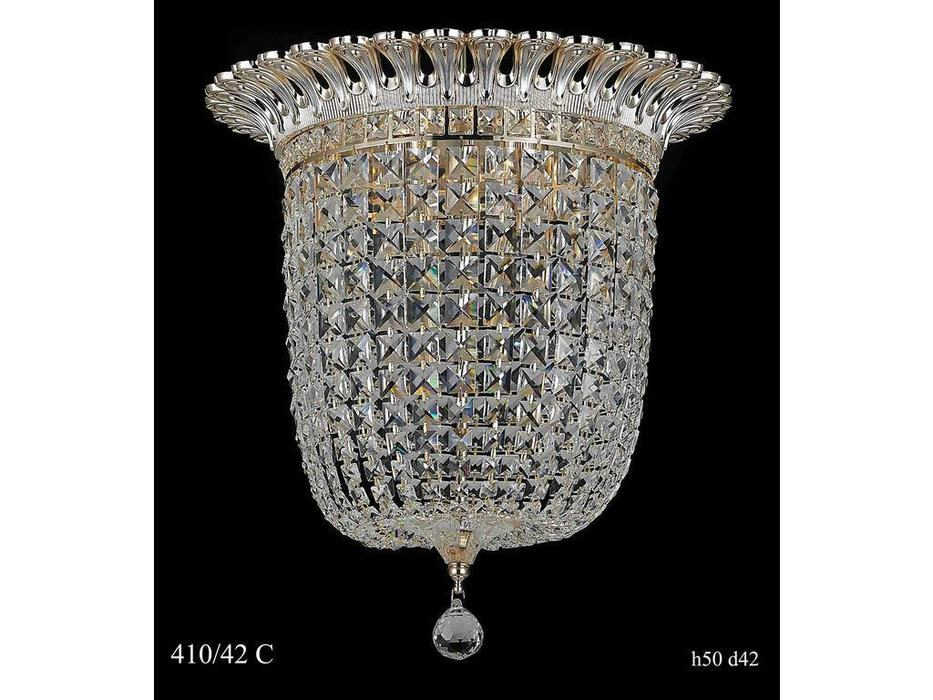 Люстра потолочная 410/42 СН (золото/серебро)