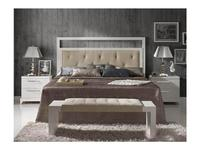 Lineas Taller: Oslo: кровать 180х200  (крем, ткань)