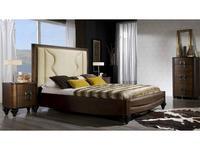 Lineas Taller: Elegance: кровать 160х200  (tabacco) ткань