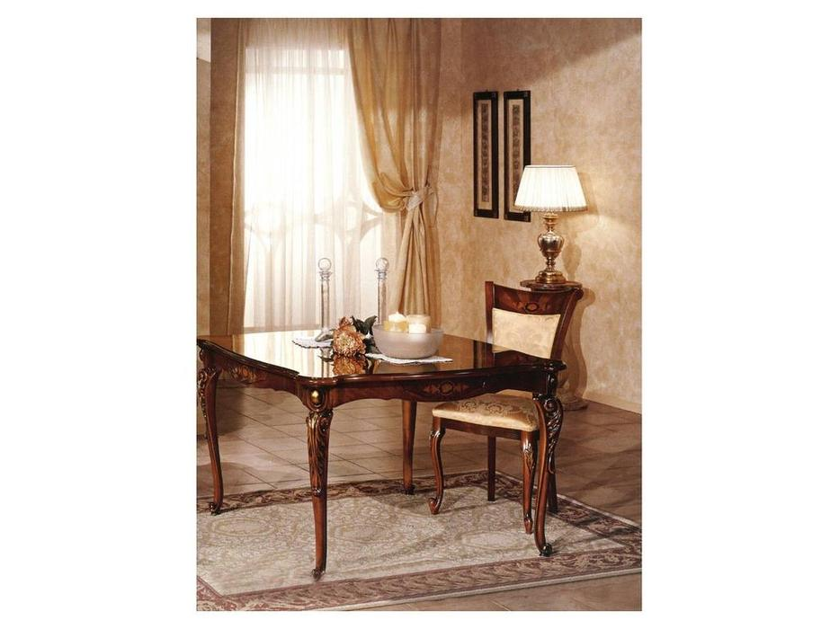 F.lli Pistolesi: Барокко: стол обеденный раскладной 120/(40+40)  (noce)