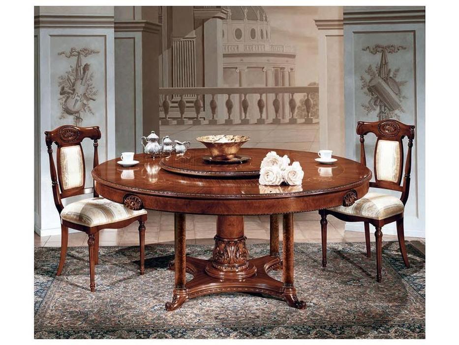 F.lli Pistolesi: Трезор: стол обеденный круглый, Lazy Susan  (noce)
