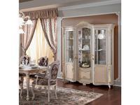 F.lli Pistolesi: Barocco: витрина 3-х дверная  De Luxe (tortora)