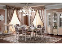 F.lli Pistolesi: Barocco: стол обеденный на 8 человек  De Luxe (tortora)