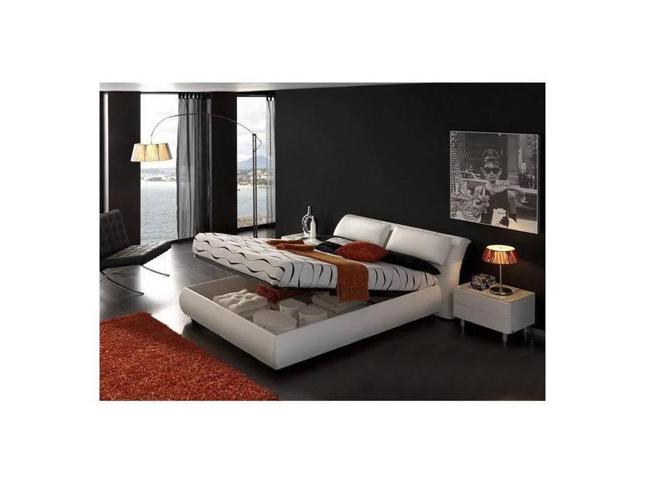 Dupen: Meg: кровать 180х200 с подъемным механизмом Мэг  кожа (белая)