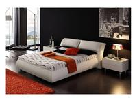 Dupen: Meg: кровать 160х200 с подъемным механизмом Мэг  экокожа (белая)