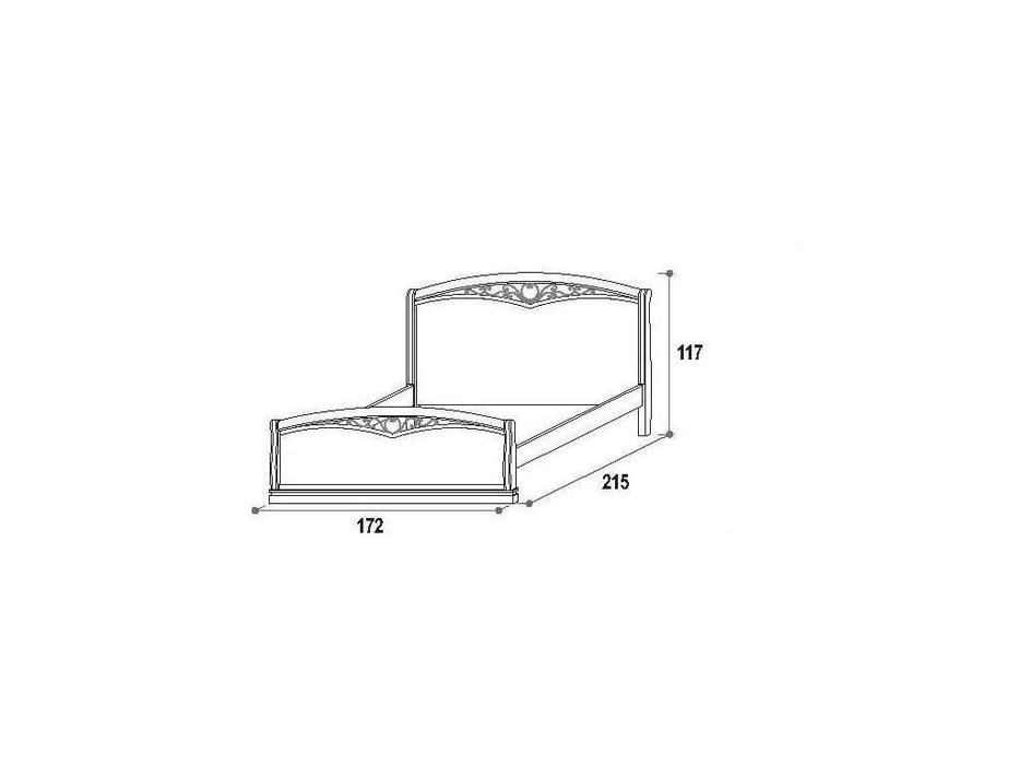 M. Villanova: Aurora: кровать 160х200  (орех)