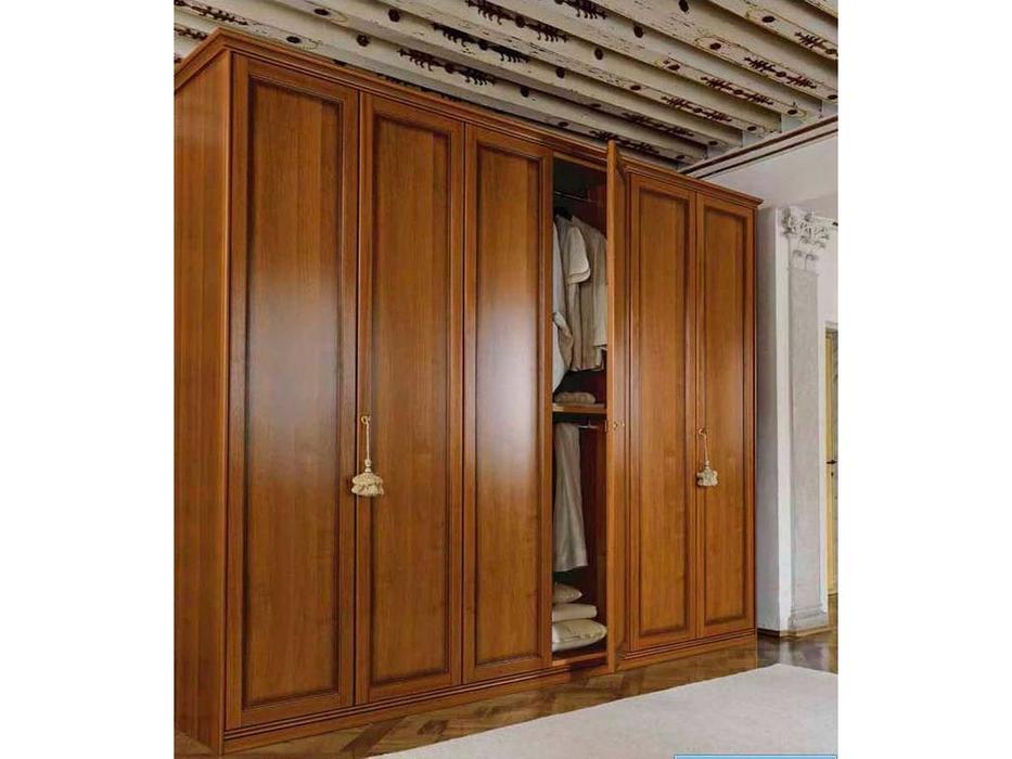 M. Villanova: Aurora: шкаф 5-и дверный, 3 зеркала h250 (орех)