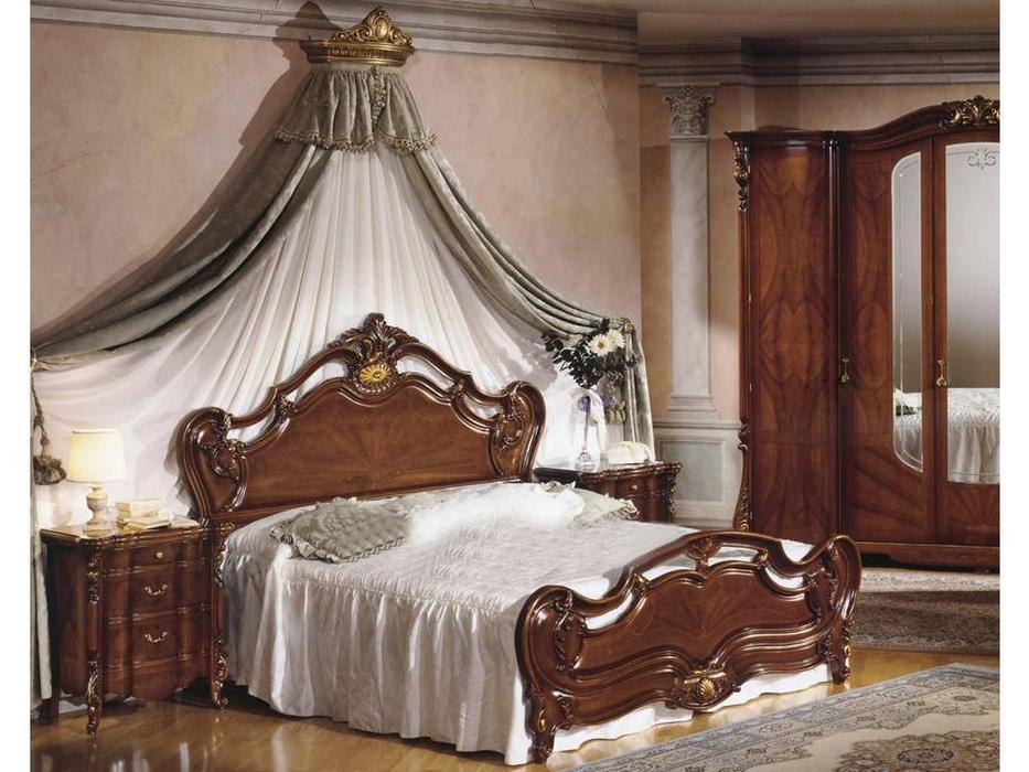 F.lli Pistolesi: Барокко: кровать 203х208  (noce)