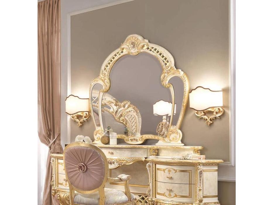 F.lli Pistolesi: Regina: зеркало для стола туалетного  (бежевый, золото)
