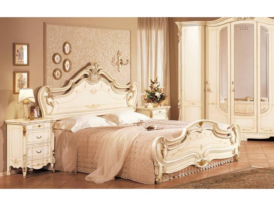 F.lli Pistolesi: Барокко: кровать 182х208  (laccato veneziano)