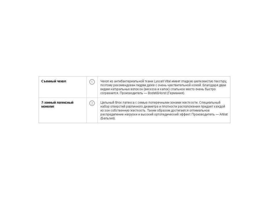 Вегас: Ecolatex: матрас  L5 180х200