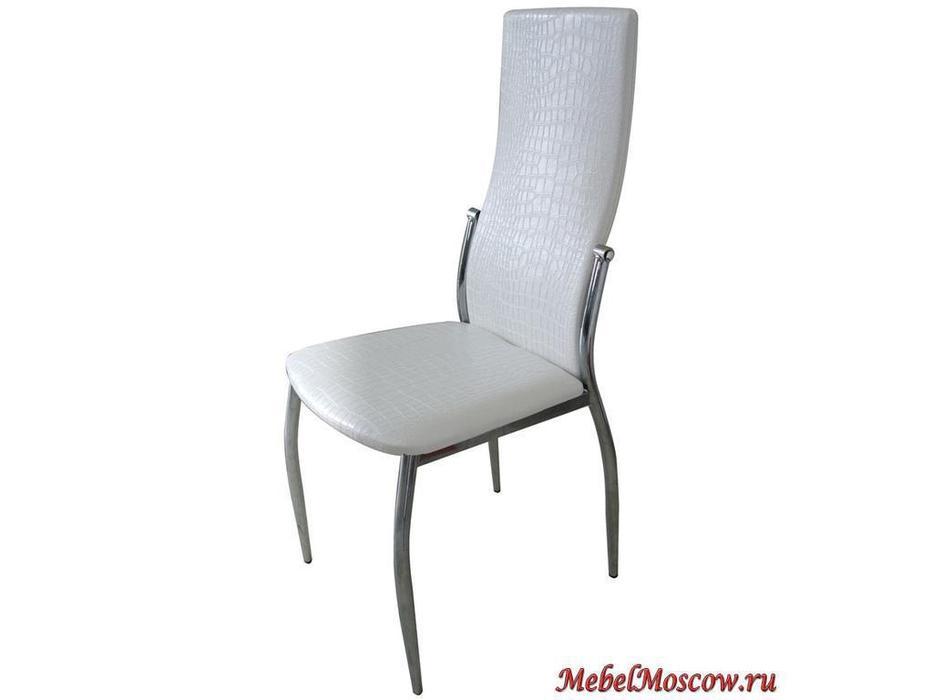 СФ: стул  (белый) под крокодиловую кожу