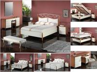Proforma Diseno: Madrid: кровать 180х200 c подъемным механизмом (cerezo, marron antico)