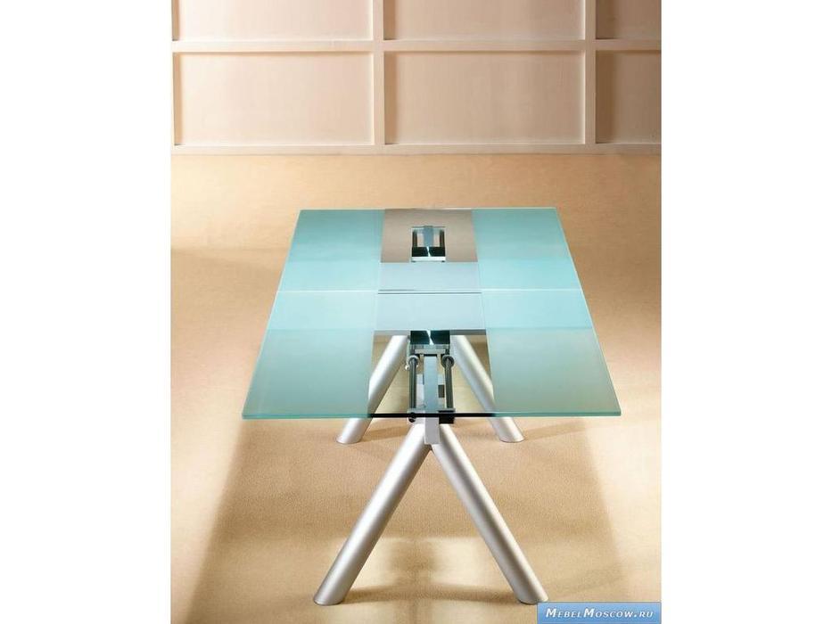 Proforma Diseno: Daly: стол обеденный раскладной (стекло, хром)