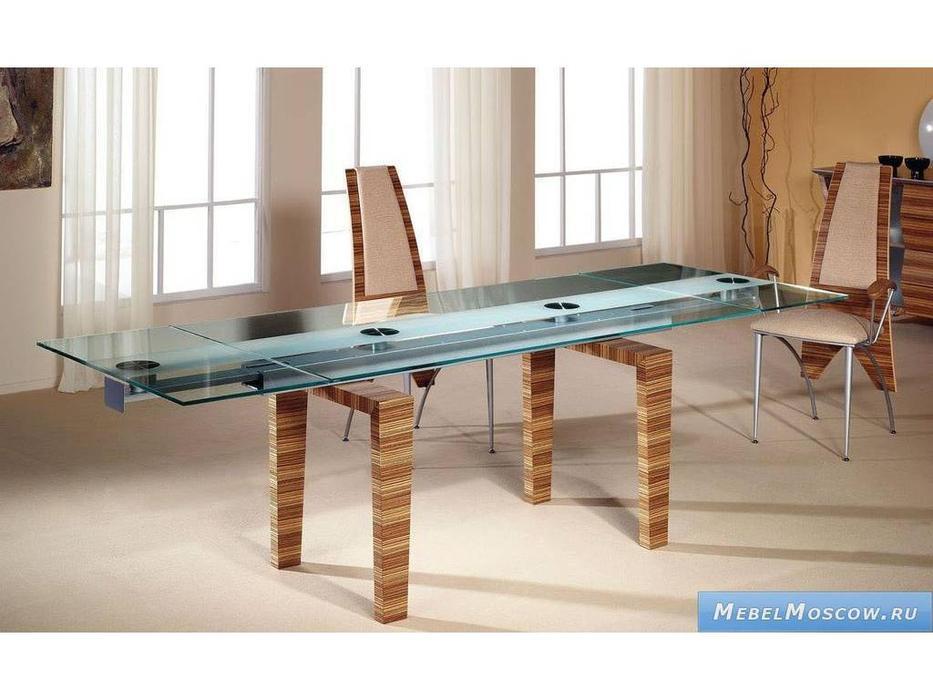 Proforma Diseno: Siena: стол обеденный раскладной (зебрано)