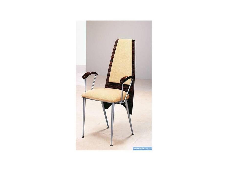 Proforma Diseno: Aida: стул с подлокотниками (эбеновое дерево, хром)