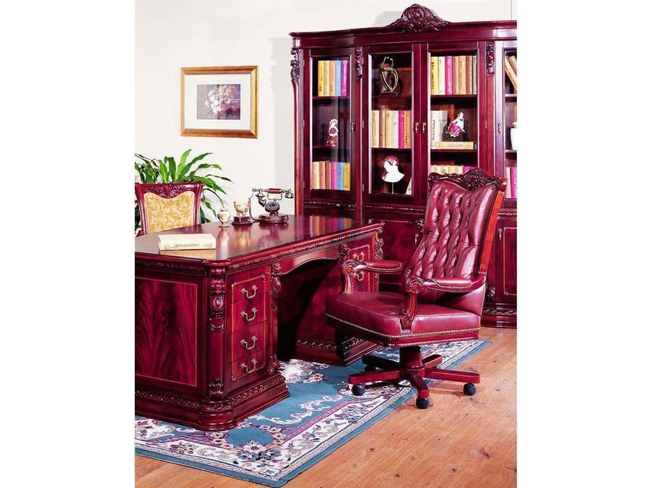 Carpenter: Изабелла: стол письменный 2-х тумбовый  (красное дерево)