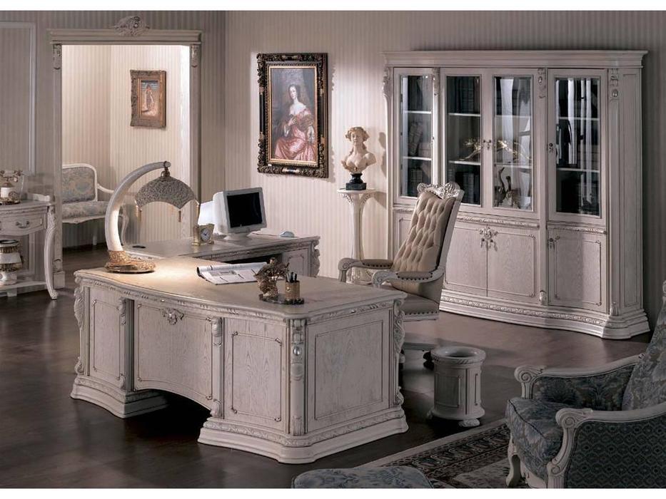 Carpenter: Изабелла: стол письменный  (белый, серебро)