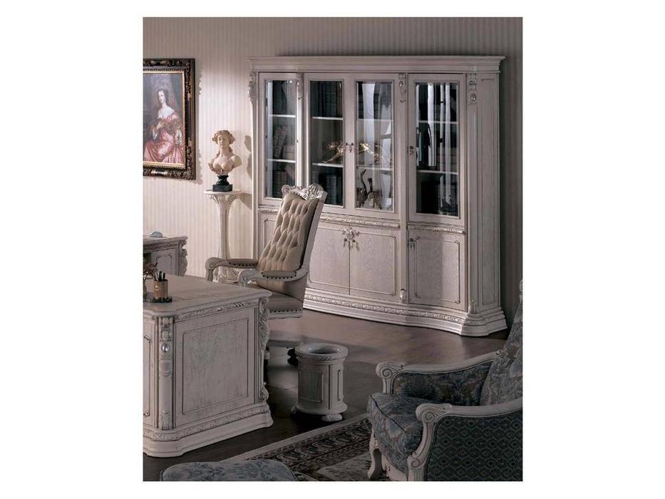 Carpenter: Изабелла: шкаф книжный  (белый, серебро)