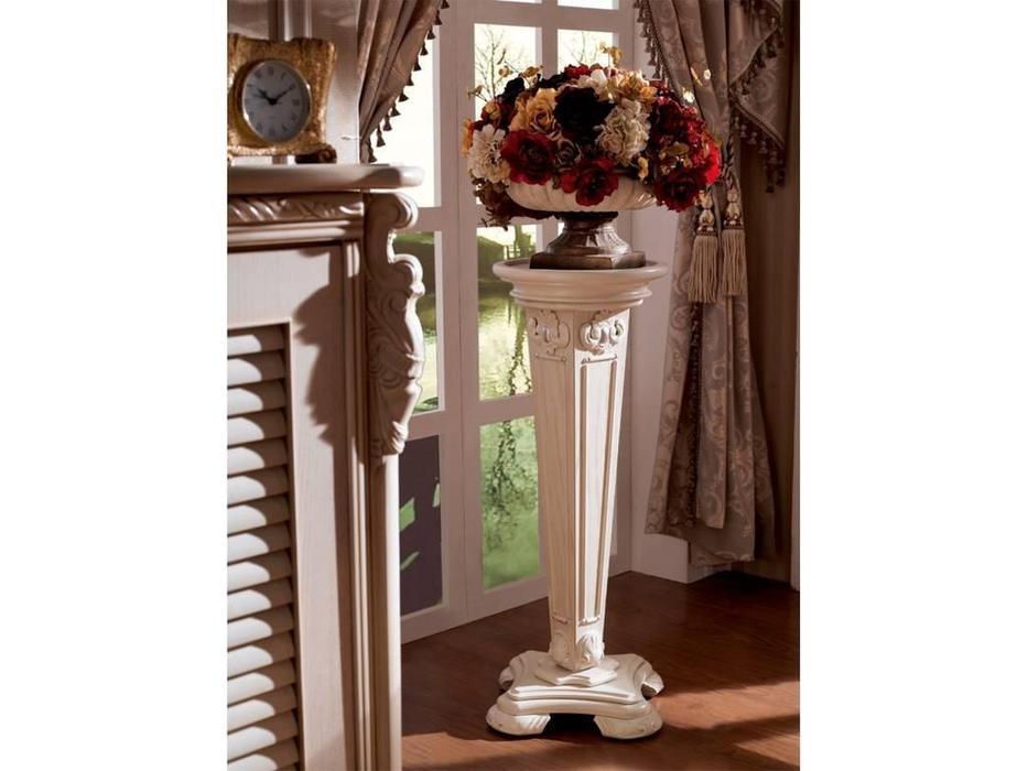 Carpenter: Изабелла: подставка для цветов В  (белый, золото)