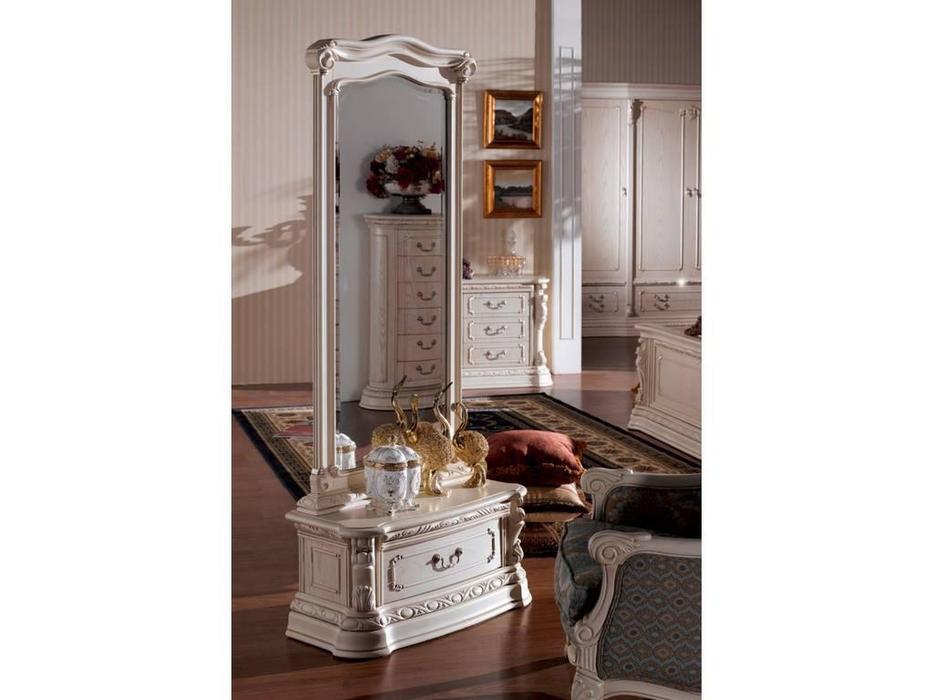 Carpenter: Изабелла: зеркало напольное  (белый, золото)