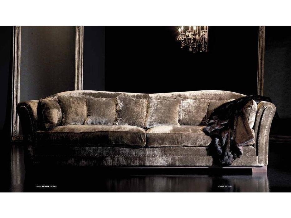 Ascension Latorre: Charles: диван 3-х местный  (ткань серия S)