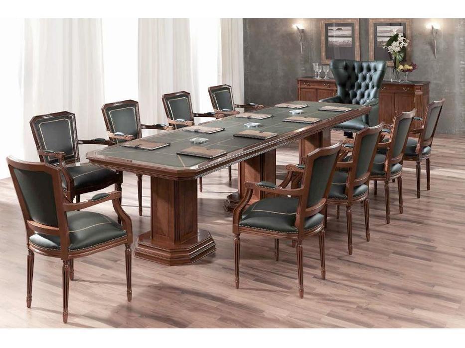 Inter CL. Mobilia: Stilum: стол переговоров прямоугольный кож. зам.