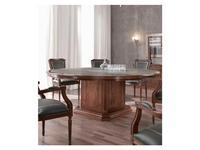 Inter CL. Mobilia: Stilum: стол переговорный  круглый кож. Зам. (орех, корень ясеня, зеленый)