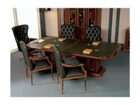 Inter CL. Mobilia: Prestige: стол переговорный  (орех, корень ясеня, зеленый)