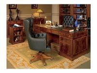 Inter CL. Mobilia: Prestige: стол письменный  (орех, корень ясеня, зеленый)