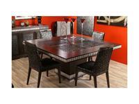 Tecni nova: Elegance: стол обеденный  (венге, серебро)