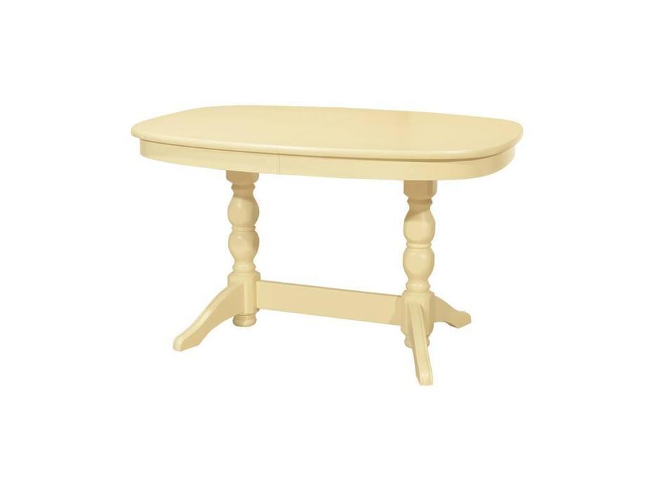 Орион: стол обеденный раскладной Премьер-М (слоновая кость)