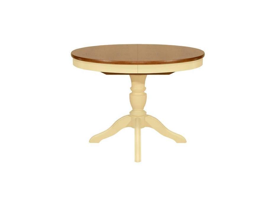 Орион: стол обеденный Рондо-ОВ (орех, слоновая кость)