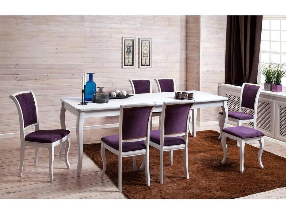 Оримэкс: стол обеденный Марсель-Т раскладной (белая эмаль)