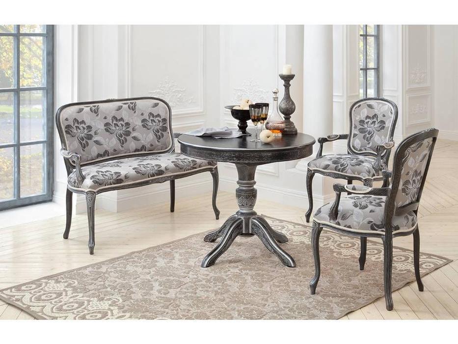Оримэкс: стол обеденный Рондо раскладной (венге с серебряной патиной)
