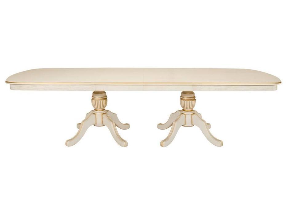 Оримэкс: стол обеденный Консул-Т раскладной (беленый дуб с бронзовой патиной)
