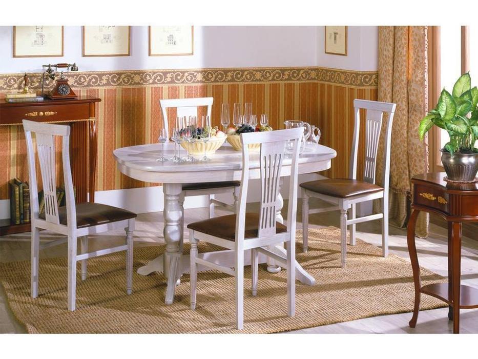 Оримэкс: стол обеденный Премьер-М раскладной (беленый дуб)