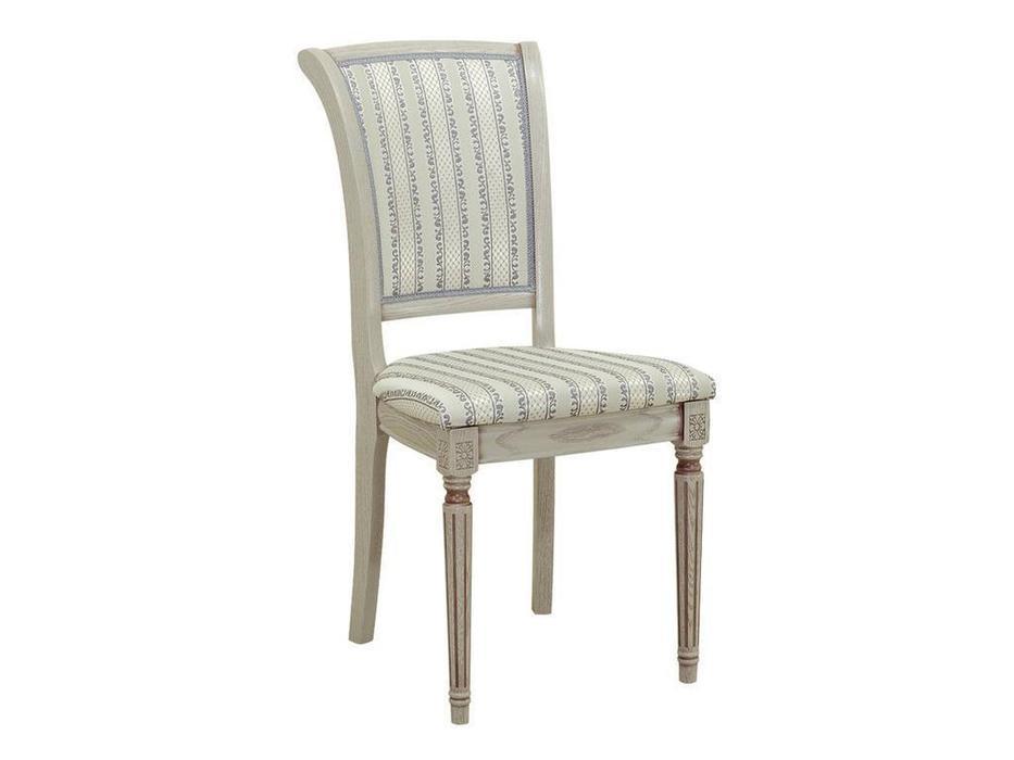 Оримэкс: стул Марко (серая эмаль с коричневой патиной, ткань)