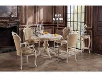 Оримэкс: стол обеденный Ампир-К раскладной (беленый дуб с бронзовой патиной)