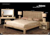 Formitalia: Alabama: кровать 183х205 массив кожа (crema)