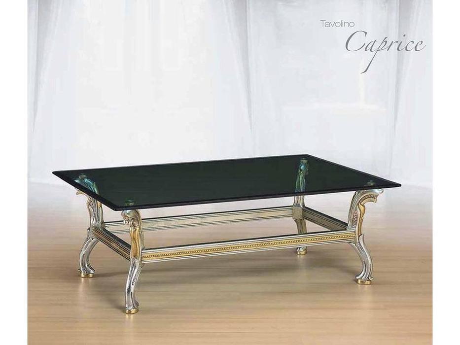 Morello Gianpaolo: стол журнальный Caprice столешница стекло  (дерево как на фото)