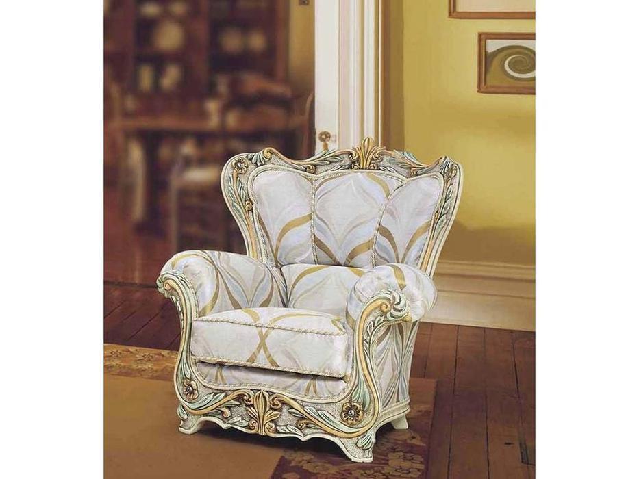 Morello Gianpaolo: кресло Savoia  ткань TRR42618 (дерево как на фото)