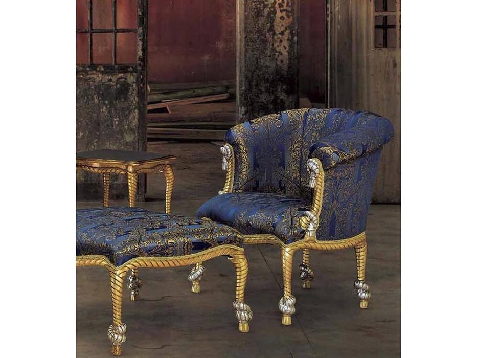 Morello Gianpaolo: кресло Nodo  ткань TMV71446 (дерево как на фото)