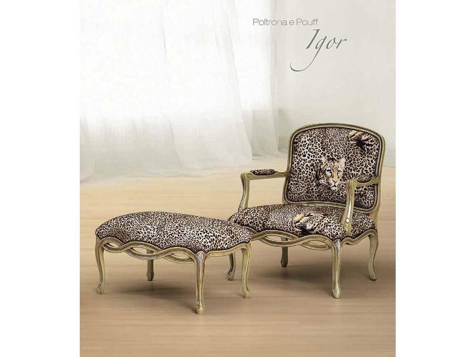 Morello Gianpaolo: кресло Igor  ткань TMX00391 ( дерево как на фото)