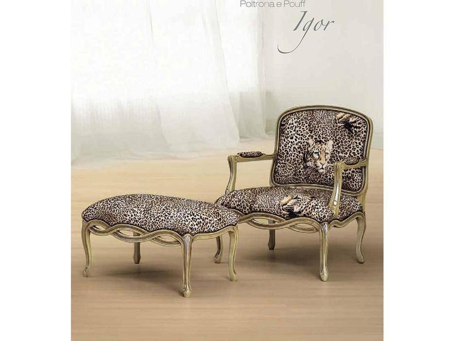 Morello Gianpaolo: комплект кресло + пуф Igor  ткань