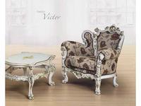 Morello Gianpaolo: кресло Victor  ткань TMC91857 (дерево как на фото)