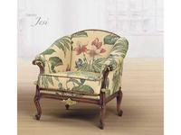 Morello Gianpaolo: кресло Jesi  ткань TGE71979 (дерево как на фото)
