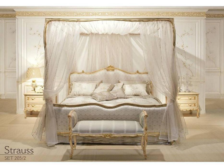 Angelo Cappellini: Strauss: кровать 180x200  (WT\ тк. ТХ3561\7 Cat.C)