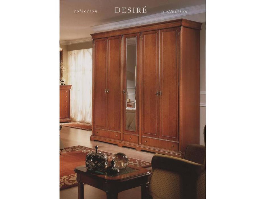 Monrabal Chirivella: Дезири: шкаф 5-и дверный, 1 зеркало  (черешня)