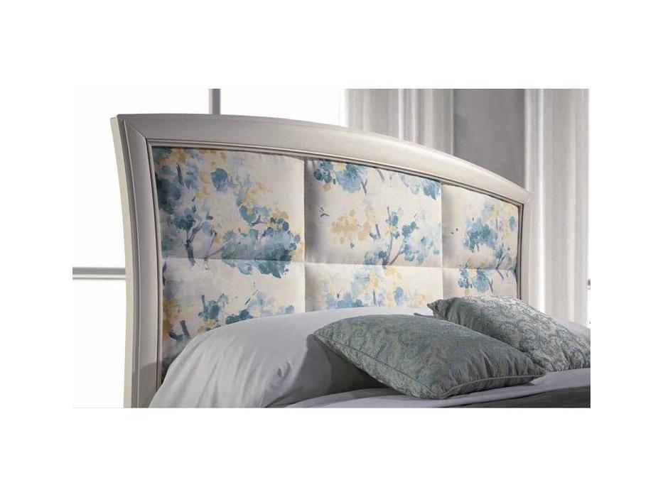 Monrabal Chirivella: Olivia: кровать 160х200 с обивкой (белый)